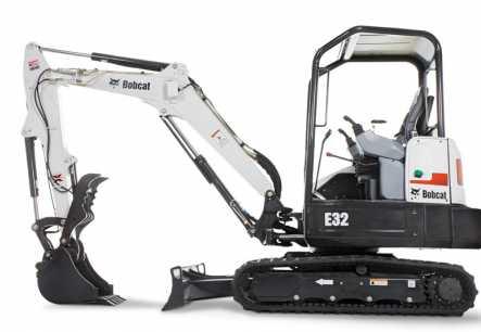 Bobcat E32 Compact Excavator Bobcat E32 Compact Excavator7,183 lb.33.3 hp .