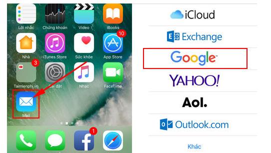 Sử dụng tiện ích Mail của iPhone để đăng nhập tài khoản Gmail