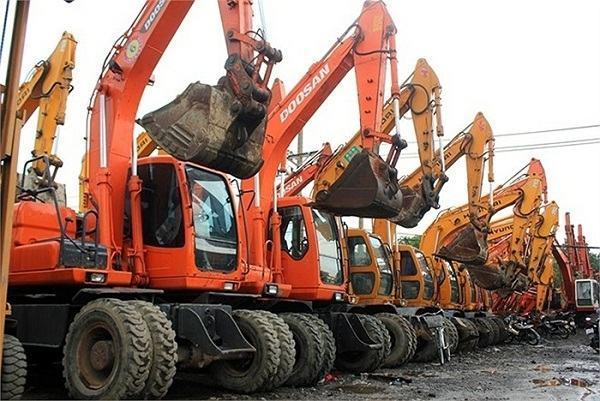 Danh sách những bãi máy xúc, máy xây dựng lớn nhất Việt Nam
