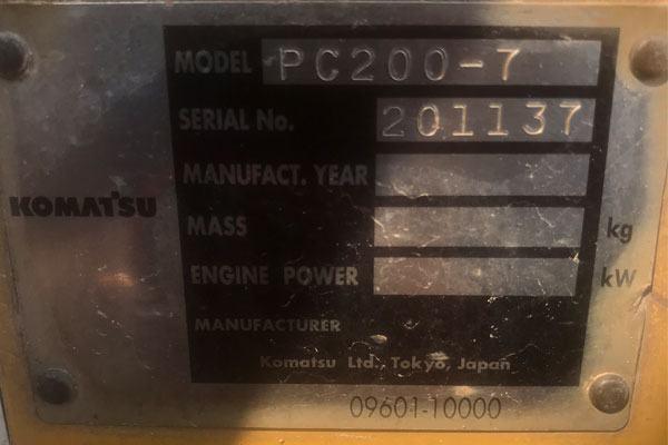 PC 200-7 máy 20 tấn đời -7 đời này hay lỗi điện