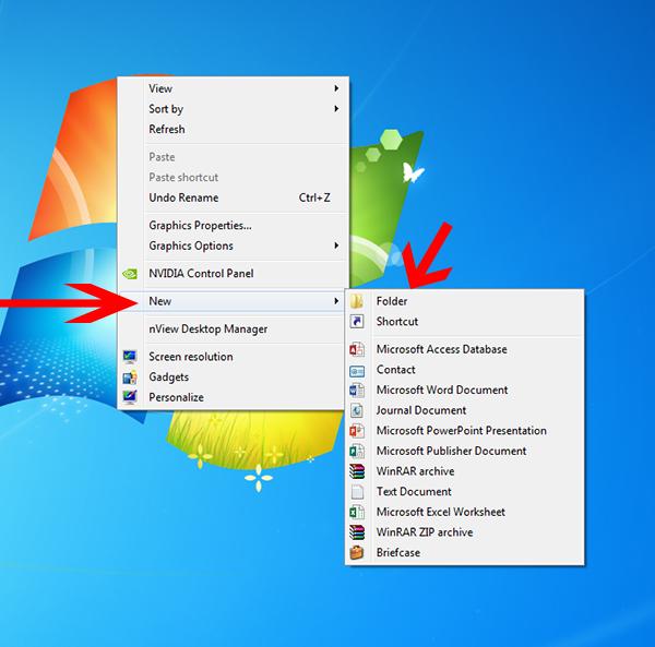 Tạo Folder trên máy tính
