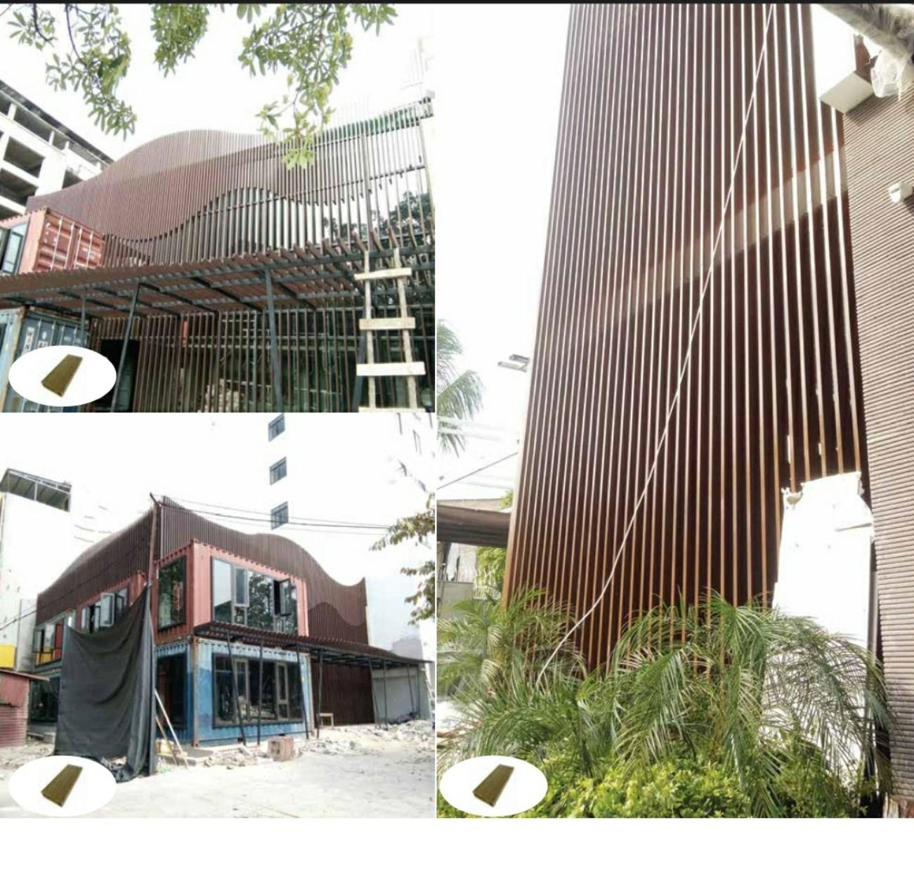 Giải pháp cho mùa hé nóng bức - Lam che nắng gỗ nhựa composite ngoài công trình