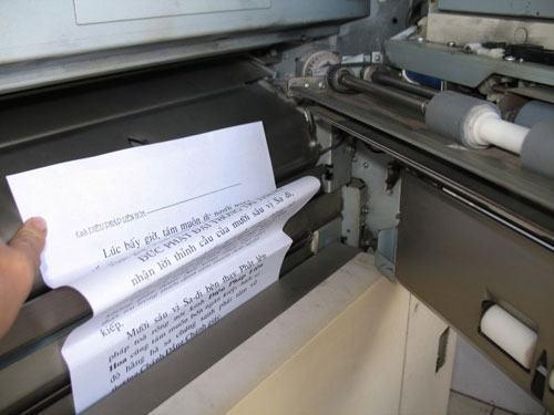 Hướng dẫn xử lý kẹt giấy trên máy photocopy