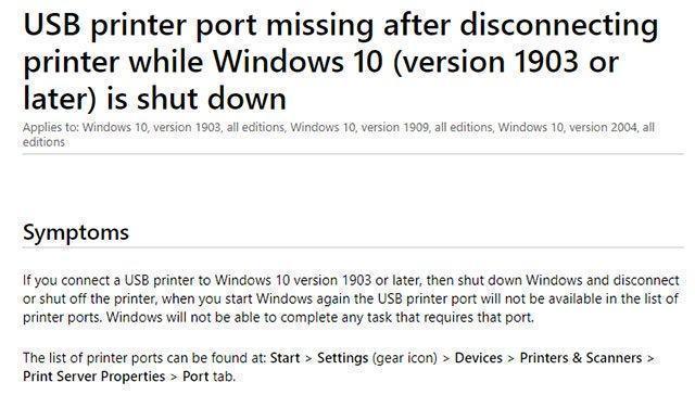 Ảnh chụp từ trang web của Microsoft