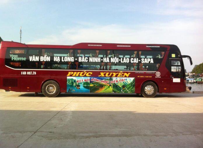 Xe khách Hà Nội Quảng Ninh sạch sẽ thoáng mát
