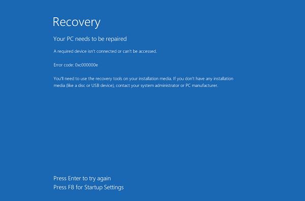 Sửa lỗi 0xc000000e trên Windows 10 không cần cài lại win
