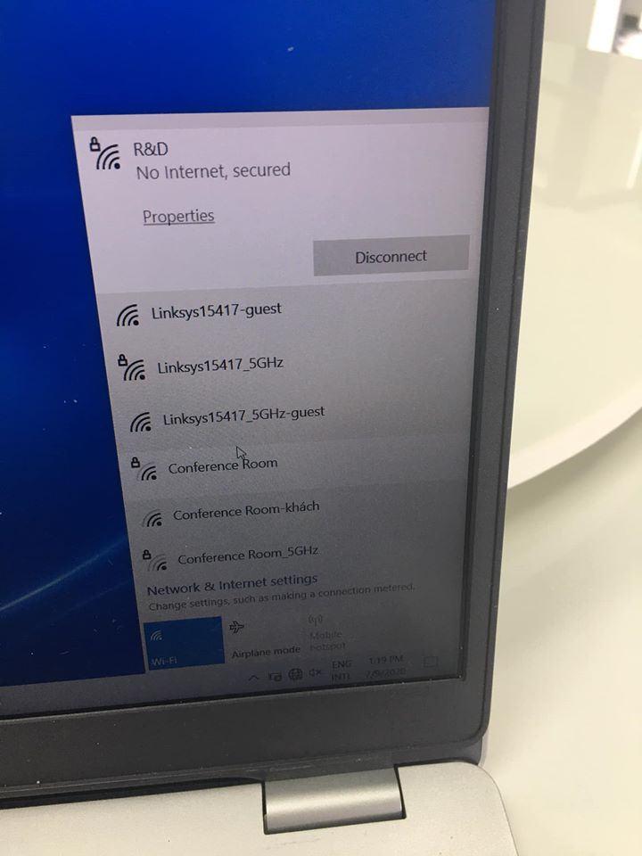 "Lỗi kết nối wifi báo "" No Internet, secured"" trên windows 10"