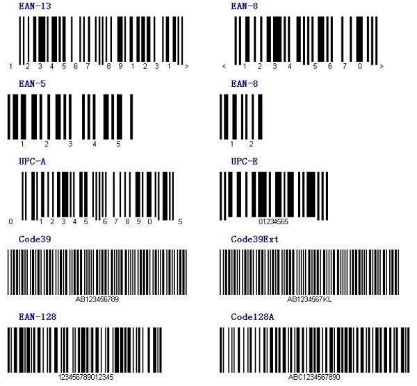Có nhiều loại mã vạch khác nhau