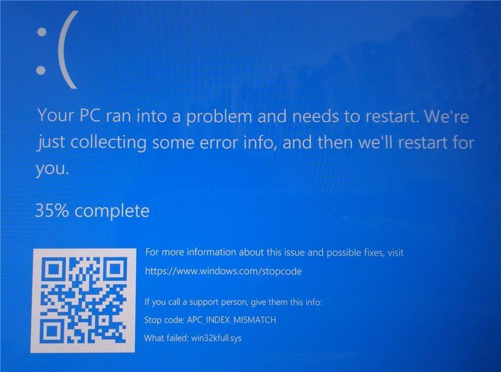 Bản cập nhật Windows 10/3 gây lỗi màn hình xanh
