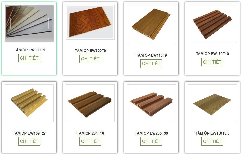 Các mẫu tấm ốp tường gỗ nhựa đang được ưa chuộng hiện nay:
