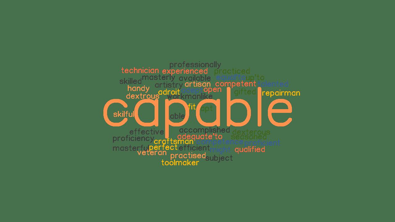 Capable đi với giới từ gì? Phân biệt able và capable