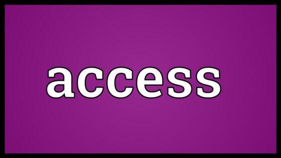 Access đi với giới từ gì