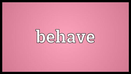 Behave đi với giới từ gì? Sau behave là tính từ hay trạng từ?