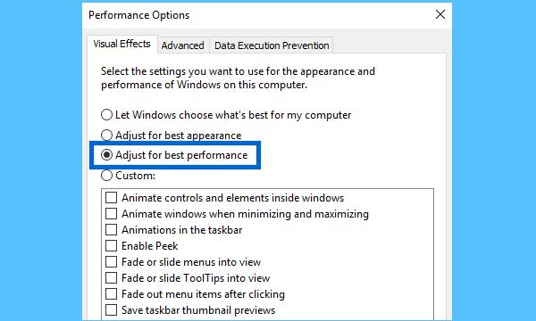 Adjust for best performance