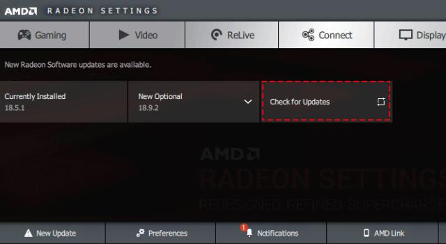 Update graphic drive