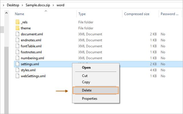 Delete restriction settings