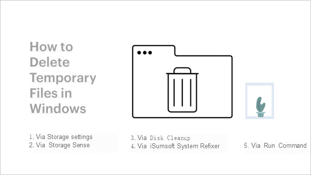 Delete temp files windows 10