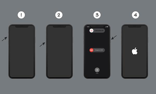 Reboot iPhone device
